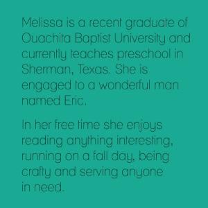 Melissa short bio